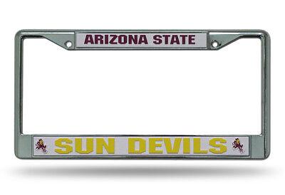 Arizona State Sun Devils NCAA Chrome Metal License Plate Frame Devils Ncaa Chrome License Plate