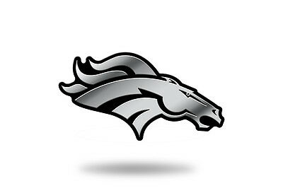 Denver Broncos Plastic Chrome 3D Emblem Automotive Car Truck Vehicle NFL Denver Broncos Car Decals