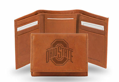 Ohio State Buckeyes TRIFOLD STANDARD Embossed Leather Wallet University NWT NCAA