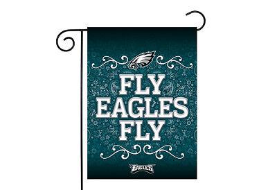 Philadelphia Eagles 13x18 Premium Stitched 2-Sided Outdoor Garden Flag Banner (Philadelphia Eagles Garden)