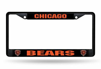 Rico Black Metal License Plate Frame Chicago Bears New