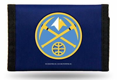 Denver Nuggets NBA Licensed Nylon Trifold Wallet (Denver Nuggets Wallet)