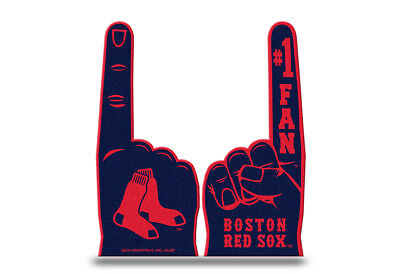 Red Foam Finger (Boston Red Sox Flat Foam Finger - #1 Fan Hand NEW Going to the Game)