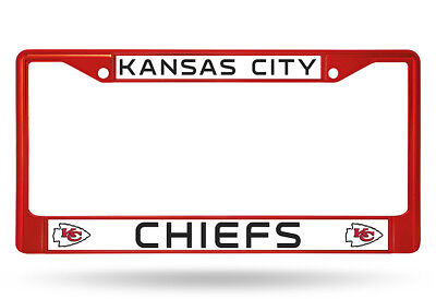 Kansas City Chiefs Metal License Plate Frame Car Truck - Auto Tag Holder NEW Red