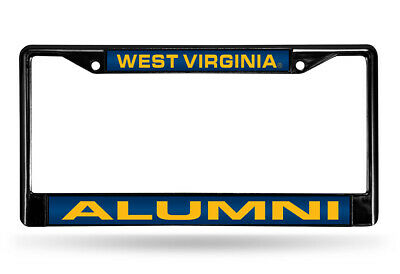 WEST VIRGINIA MOUNTAINEERS ALUMNI CHROME LASER-CUT LICENSE PLATE FRAME 4 - NEW - $15.99
