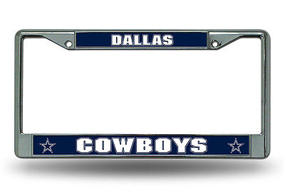Dallas Cowboys Authentic Metal Chrome License Plate Frame Auto Truck Car NWT ()