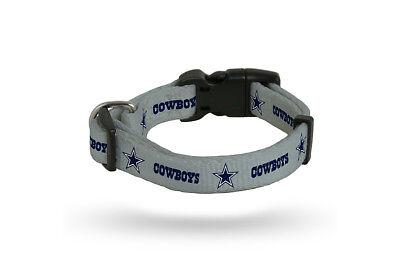 Dallas Cowboys LARGE  Adjustable Dog Pet Nylon Collar 16-26 Inch Authentic NFL - Dallas Cowboys 16