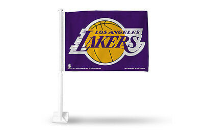 Los Angeles Lakers Car Flag - Los Angeles Lakers Car Flags - Purple RICO Industries