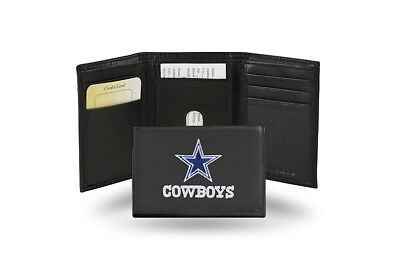 Dallas Cowboys Gifts (Dallas Cowboys Embroidered TRIFOLD Genuine Leather Wallet + FREE Gift Tin)