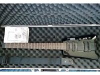 Hohner Headless Electric Guitar with hard case + Extra's