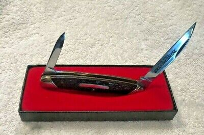 WINCHESTER W 15 2935 HALF WHITTLER CONGRESS JIGGED BONE POCKET KNIFE, NEW IN BOX