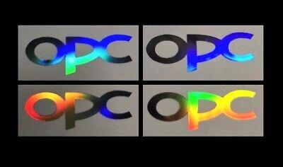 Gebraucht, 4x OPC Oilslick Hologramm Aufkleber Opel Sticker Corsa Zafira Adam Astra TOP gebraucht kaufen  Bochum