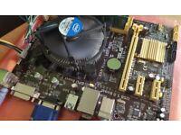 Intel Core i3-4130 + Asus H81M-K + 4GB RAM + FAN + Mobo Backplat