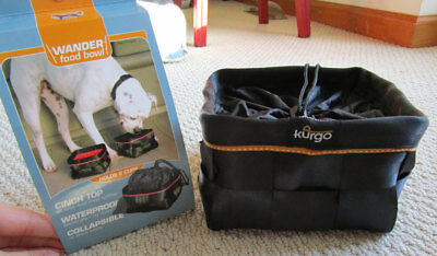 NIP Kurgo Wander Collapsible, Water Proof, Cinch top Food Bowl, Dog (retired)