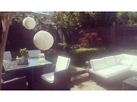 Make us an offer! BEAUTIFUL Rattan all-weather outdoor furniture. Modern, nearly new. All matching.