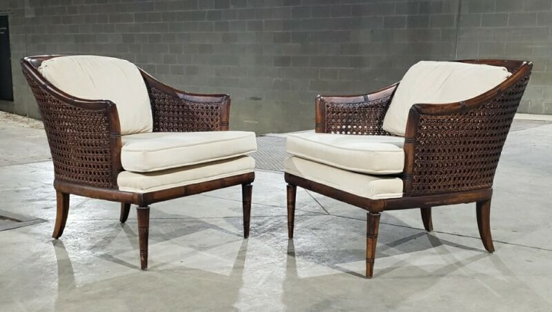 Elegant Pair Of Double Caned Tub Chairs *(Ask for a shipping quote)*