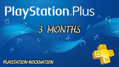 3 Months PS Plus PlayStation Plus PS4 PS3 Vita 6 14-Day Membership No Code