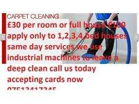 Carpet cleaner all postcodes west yorkshire cover £30 per Room full house £100