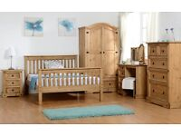 BRANDNEW FLAT PACKED Solid Pine Furniture Wardrobes-Chest of drawers-Beds Etc FAST DELIVERY