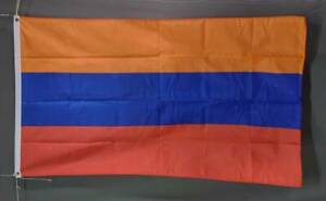 Armenia flag: printed polyester. 150 x 90 cm/ 5x3'. Brand new Marrickville Marrickville Area Preview