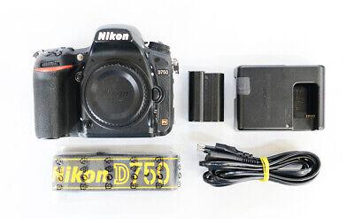 "# Nikon D750 Digital SLR Camera Full Frame 24.3MP No WiFi ""111448 cut"" s/n 6444"
