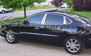 2005-2009 Buick Lacrosse 8Pc Chrome Pillar Post Stainless Steel Trim