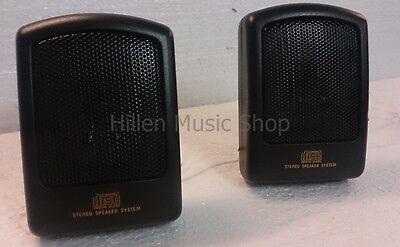 11 cm Mini Lautsprecher-Paar inkl. Ständer inkl 1 und 5 Meter Lautsprecherkabel! ()