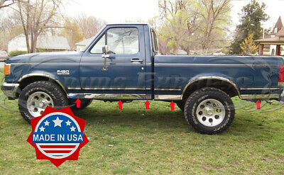 1987-1996 Ford F-Series Pickup Regular Cab Short Bed Chrome Rocker Panel Trim-3""
