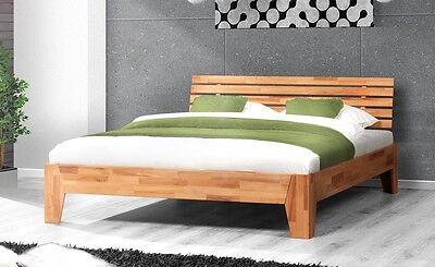 Bett Doppelbett Bettgestell BIGOLI 200 x 200 Kernbuche Buche massiv geölt