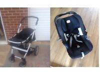 Britax babysafe shr2 car seat group 0 with compatible buggy