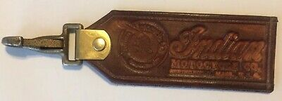 Handmade Heavy Leather Indian Motorcycle Vintage Style Clasp Tag