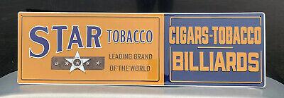 Star Tobacco Metal Sign Cigars Billiards Garage Vintage Style Wall Decor Bar Pub