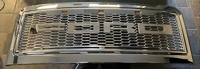 08 10 Ford F250 F350 F450 F550 SuperDuty Raptor Style All Chrome Grille Grill