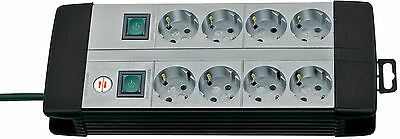 8 fach Steckdosenleiste Steckdose Doppel Schalter 2 x 4 schaltbar Brennenstuhl