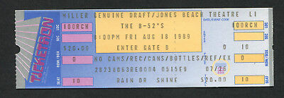 1989 B 52s  Unused Full Concert Ticket  Jones Beach Theatre