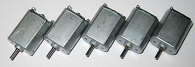 5 X Pc-130 Electric Dc Motors - 12 Vdc 4800 Rpm - Pc-130sf-09480