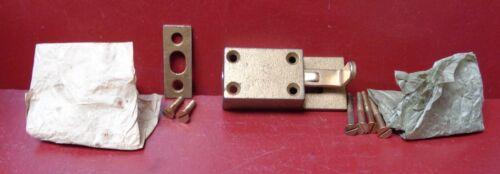 1 ANTIQUE NOS CAST IRON DOOR SECURITY FOOT BOLT LOCK RUSSWIN U.S.A.