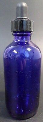 Cobalt Blue Glass 4-ounce Boston Round Bottle Eye Dropper 24-400 Thread