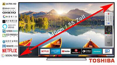 "Toshiba LED Fernseher 55"" 139cm 4K Ultra HD Smart TV WLAN Netflix Dolby"