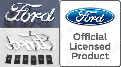 Ford Chrome Script Metal Emblem Ranger Galaxie Maverick Mustang