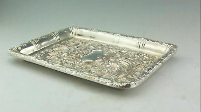 EDWARDIAN ANTIQUE ENGLISH SILVER DRESSING TABLE TRAY WALKER & HALL 1903 341GMS