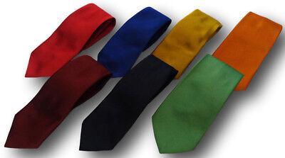 Schuluniform Krawatte in Kräftige Farben - 132cm Erwachsene Länge - Viele (Erwachsene Schuluniform)