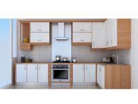 Cream gloss kitchens