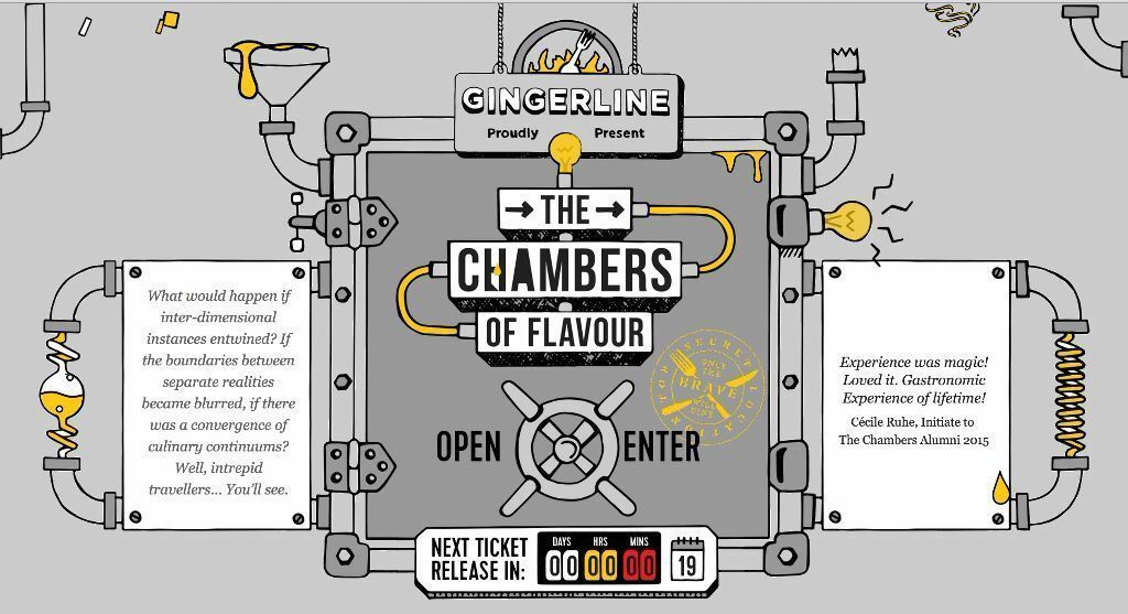 2x gingerline chambers of flavours sold out 15th jan 16 for Chamber of flavours