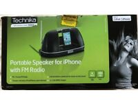 Technika Portable Speaker for iphone with FM radio