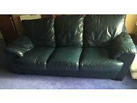 FREE. 2 x Navy leather sofas
