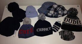 Various Baby Boy Hats; Newborn to 12 months
