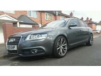 Audi A6 Saloon 2.0 TDI S Line Special Edition 4dr in Daytona Grey with Crystal Effect.