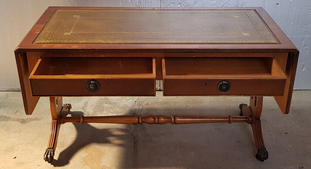 Coffee Table Extendable Top.2 Drawer Leather Top Extending Coffee Table In Huntly Aberdeenshire Gumtree
