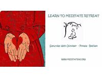 Learn to Meditate Day Retreat – Sat – 22nd October